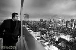Manhattan Rooftop Portrait At Night